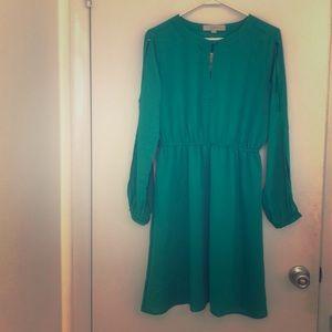 NWT Loft petites skit sleeve keyhole dress